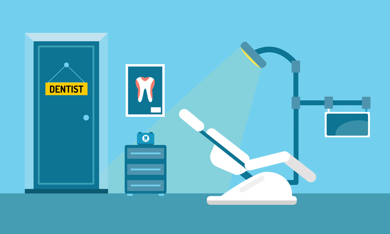family dentist office cartoon diagram
