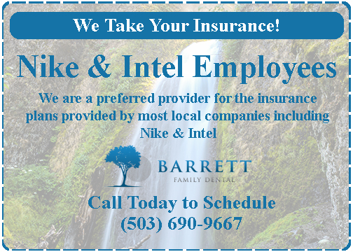 Beaverton dentist accepting insurance from Nike and Intel employees